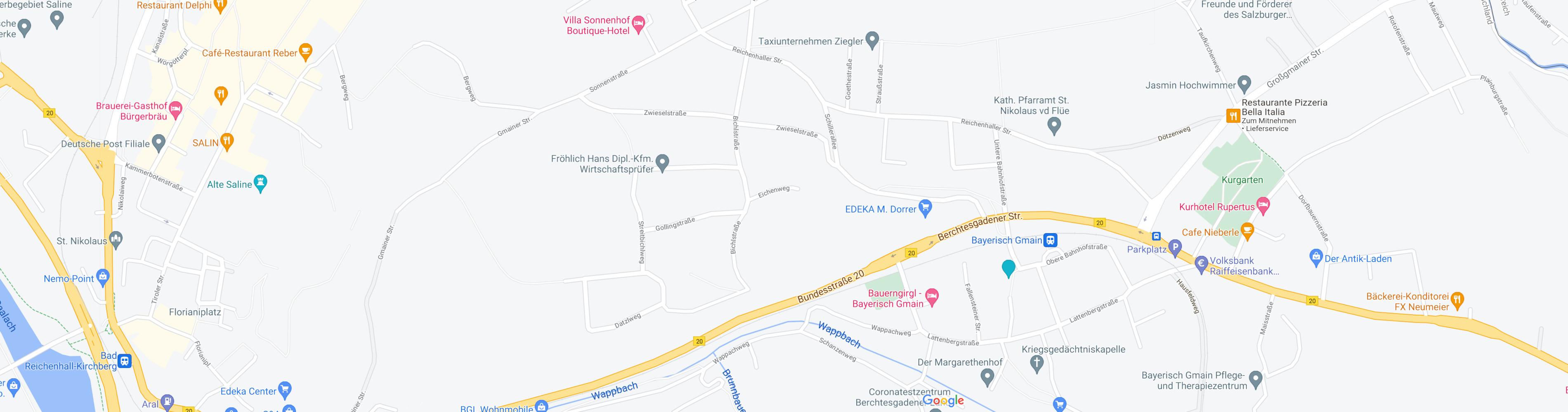 stadtplan Bayerisch Gmain Bad Reichenall Grossgmain stadtplan Bio Kosmetik Shop Natur gesund Produkte Bayern